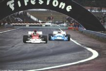 "BRM P180 and MATRA MS120 Spainish GP 7x5"" colour photo"